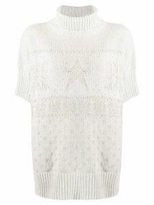 Lorena Antoniazzi tonal intarsia knit jumper - NEUTRALS