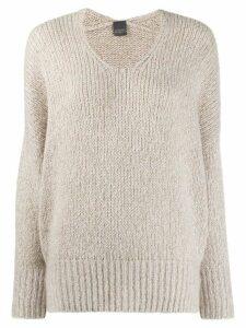 Lorena Antoniazzi scoop neck slouchy sweater - NEUTRALS