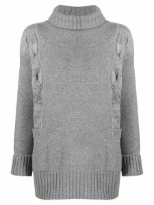 Lorena Antoniazzi embroidered sequin jumper - Grey