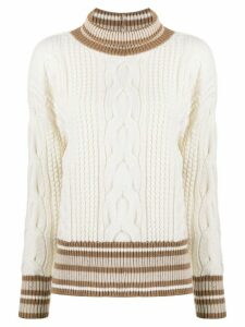 Lorena Antoniazzi cable knit jumper - NEUTRALS