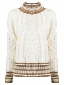 Lorena Antoniazzi cable knit jumper - NEUTRALS