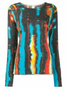 Ultràchic abstract print slim-fit jumper - Blue
