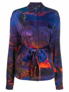 Marcelo Burlon County Of Milan ALL OVER FANTASY SHIRT MULTICOLOR BLACK