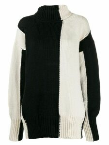 Joseph two-tone panelled jumper - NEUTRALS
