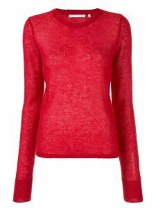 Helmut Lang knitted long-sleeve jumper - Red