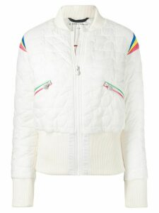 Perfect Moment Glacier quilted bomber jacket - White
