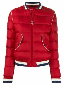 Perfect Moment rainbow bomber jacket - Red