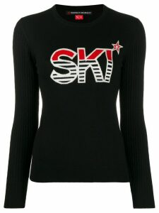 Perfect Moment Ski intarsia jumper - Black
