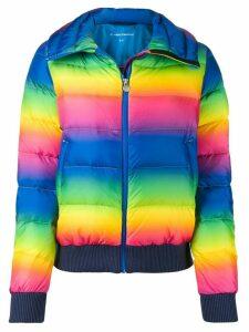 Perfect Moment Super Star rainbow-print jacket - Blue