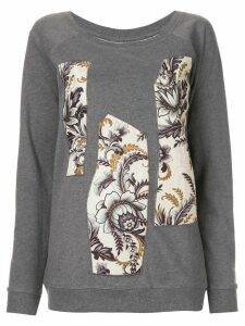 Antonio Marras floral-panelled sweatshirt - Grey