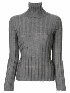 Lorena Antoniazzi ribbed turtle neck jumper - Grey