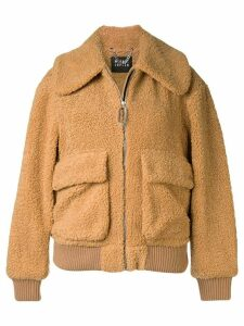 Markus Lupfer faux-shearling bomber jacket - Brown