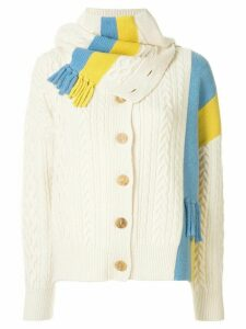 SJYP NECK WARMER DETAILED CARDIGAN - White