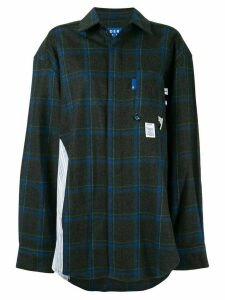 Ader Error checked oversized shirt - Green