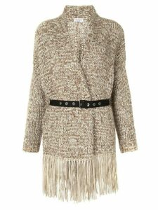 Brunello Cucinelli belted wrap cardigan - Neutrals