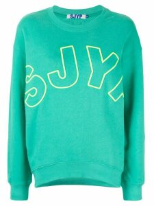 SJYP embroidered logo sweatshirt - MINT MINT