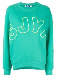 SJYP embroidered logo sweatshirt - MINT MINT