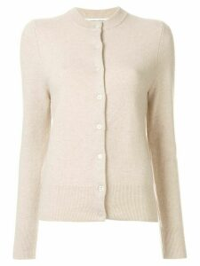 Extreme Cashmere ribbed neckline classic cardigan - NEUTRALS
