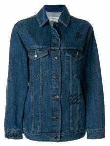 Être Cécile animal print denim jacket - Blue