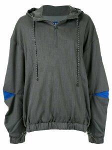 Ader Error oversized track hoodie - Grey