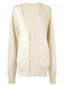 Extreme Cashmere oversized V-neck cardigan - NEUTRALS