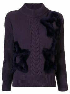 Lorena Antoniazzi star embroidered jumper - PURPLE