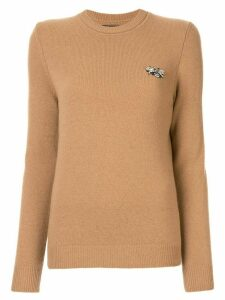 Markus Lupfer bee-embellished jumper - Brown