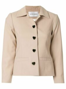 George Keburia heart buttons jacket - Brown