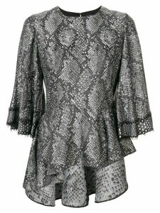 Andrew Gn snakeskin effect top - Black