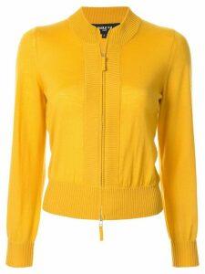 Paule Ka knitted bomber-style cardigan - Yellow