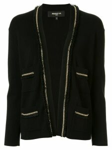Paule Ka chain-embellished cardigan - Black