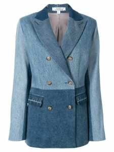 Kseniaschnaider panelled denim blazer - Blue