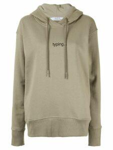 Kseniaschnaider Typing hoodie - Green