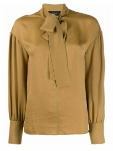 Joseph pussy bow blouse - NEUTRALS