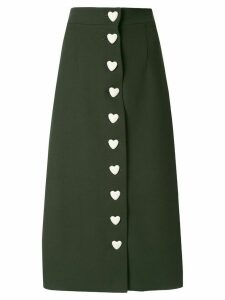 George Keburia heart button-down skirt - Green