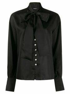 Balmain pussy-bow blouse - Black