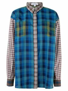 Kseniaschnaider patchwork design shirt - Blue
