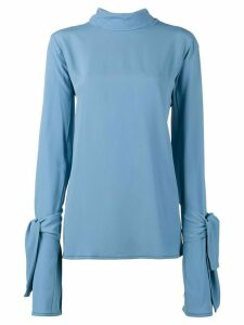Marni tie neck long sleeve blouse - Blue
