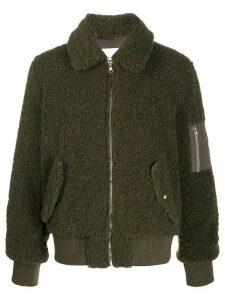 STAND STUDIO textured bomber jacket - Green