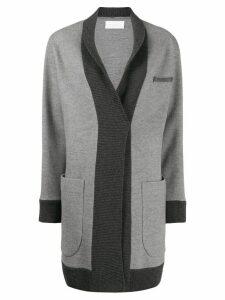 Fabiana Filippi fitted knit coat - Grey