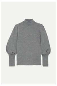 Cefinn - Eva Ribbed Wool Turtleneck Sweater - Gray