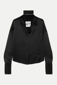 Orseund Iris - Silk-satin Shirt - Black