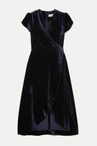 Cefinn - Layla Velvet Wrap Dress - Navy