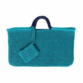 PHOEBE GRACE - Peggy Wide Leg Palazzo Trouser in Blue Leaf Print