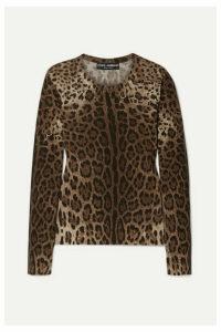 Dolce & Gabbana - Leopard-print Wool Sweater - Leopard print