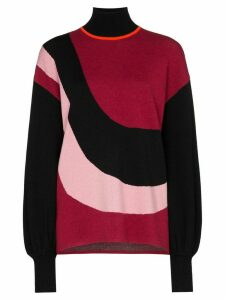 Roksanda Intarsia knit turtleneck - Red