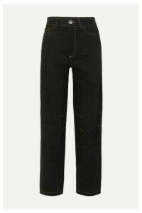 Matthew Adams Dolan - High-rise Wide-leg Jeans - Black