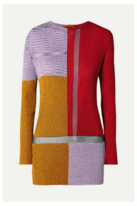 Missoni - Color-block Metallic Crochet-knit Sweater - Red