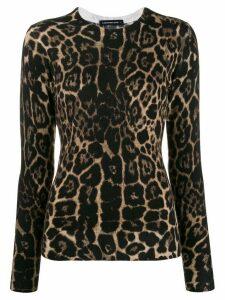 Samantha Sung Carolina leopard-print jumper - Brown