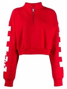 MSGM crooped sweatshirt - Red
